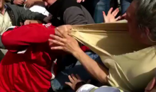 Georgia & Georgia Tech Fans Had To Be Separated During A Scuffle In The Stands (VIDEO)