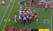 Multiple Players Ejected During 49ers-Cardinals Game For Fighting (VIDEO)