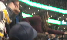 Female Bruins Fan Gets Slapped Hard By A Male Fan During Fight In The Crowd (VIDEO)