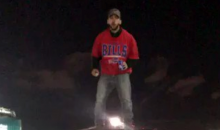 Bills Fan Throws Himself Through A Table; Doesn't Spill A Drop of Beer (VIDEO)