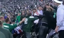 Watch Jets Fans Chant Signature Slogan While Fans Pound Each Other In The Stands (VIDEO)