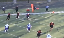 Watch This Division III School Run The Hook-and-Ladder To Left Tackle Who Front Flips Into End Zone (VIDEO)