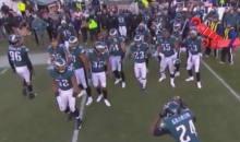 Eagles Players Bust Out The 'Electric Slide' To Celebrate Blowout Victory Against Bears (VIDEO)