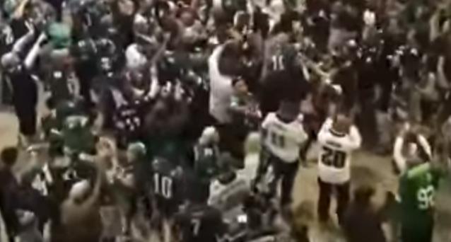Hundreds protest during Cowboys vs. Eagles game