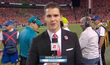 Infamous Sideline Reporter Sergio Dipp Resurfaces For Patriots-Raiders Game In Mexico