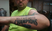 Titans Fan Now Stuck With Massive AFC South Champ Tattoo After Jaguars Clinched Division Title