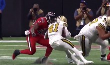 Alvin Kamara Leaves Game With Possible Concussion After Helmet-to-Helmet Hit (VIDEO)