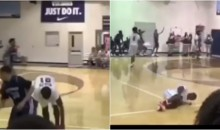 High School Basketball Player Seems To Tear His ACL After A Devastating Crossover (VIDEO)