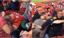 Tampa Bay Bucs Fans Brawl In The Stands During MNF; Cops Start Choking Guy To Subdue Him (VIDEO)