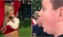 Young Dallas Cowboys Fan Gets Absolutely Mesmerized By A Cheerleader Dancing In Front Of Him (VIDEO)