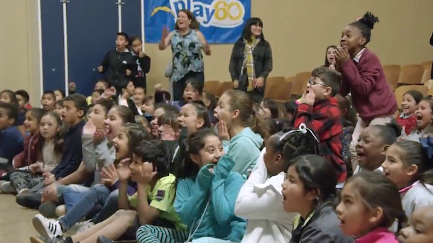 Chargers Surprise Kids with Bikes for Christmas
