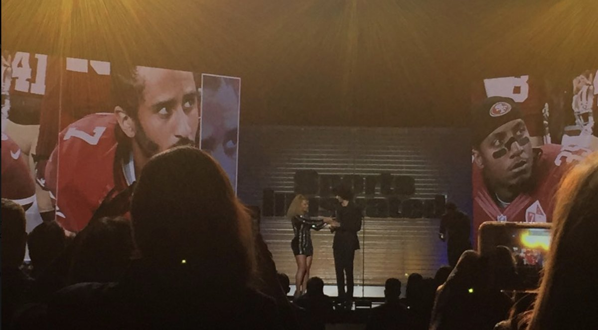 Beyonce Presents Colin Kaepernick with Muhammad Ali Legacy Award