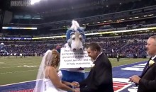 Couple Gets Married On Field Before Colts-Broncos Game, Receive Honeymoon Gift From NFL (VIDEO)