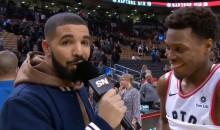 Drake Spawned Hilarious New Meme While Serving as Sideline Reporter for Raptors on Thursday (VIDEOS)