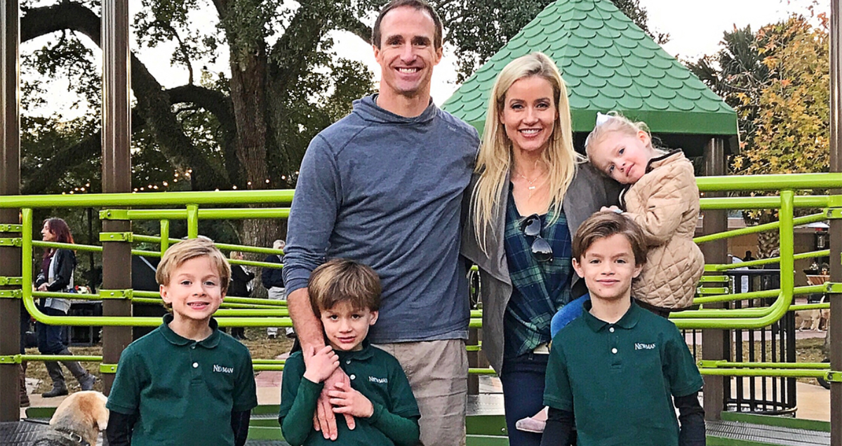 total pro sports drew brees opens playground for children