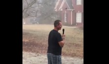 Georgia Fan Sets Up Microphone To Wake Up Auburn Neighbors After SEC Title Win (VIDEO)