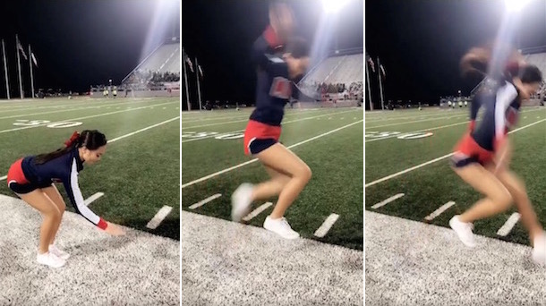 High School Cheerleader Perfect Invisible Box Trick