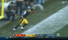 JuJu Smith-Schuster Throws Actual Snowball At Martavis Bryant After Scoring TD (VIDEO)