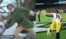 JuJu Smith-Schuster Won Christmas When He Reenacted A Scene From 'Elf' After Scoring TD (VIDEO)