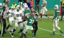Dolphins' Kenyan Drake Goes Full Kyle Turley & Tosses Bills Players Helmet Down The Field (VIDEO)