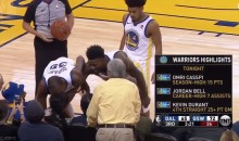 Kevin Durant Kisses Courtside Fan After Hitting Her In Face With Errant Pass (VIDEO)