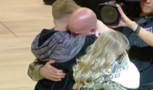 Deployed Army Dad Surprised His 3 Kids at Mid-Court During Kings Game (VIDEO)