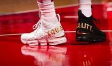 LeBron James Rocks Black & White 'Equality' Shoes During D.C. Appearance (PICS)