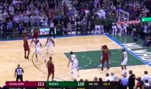 LeBron James Banks Ball Off Giannis on Inbound Pass, Hits Huge 3-Pointer (VIDEO)