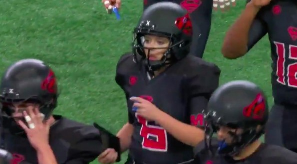 Strawn female football kicker makes history during UIL state championship game