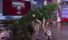 Shaq Got Posterized by an Aggressive Christmas Tree (VIDEO)