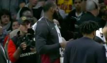 Mic'd Up LeBron James Searches For Candy For His Daughter During Game (VIDEO)