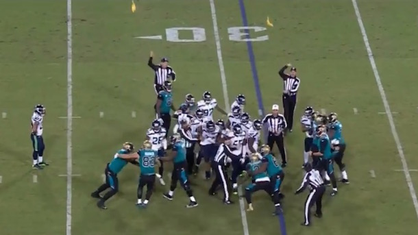 Hot reads: National Football League ugliness in Seahawks-Jaguars incidents and Savage concussion mess