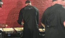 Carson Wentz Spotted In Post Game Food Line With Soft Brace on Knee (PIC)