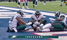 Eagles Gather Around The Campfire To Celebrate Touchdown Against Giants (VIDEO)