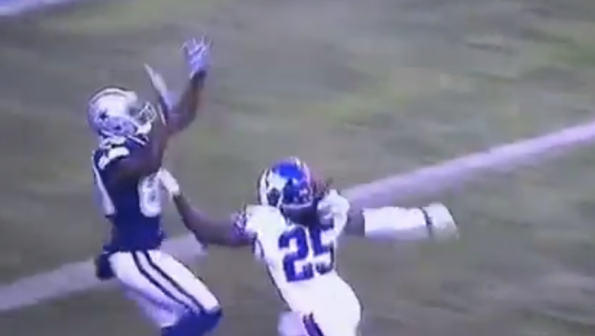 Dez Bryant Drops A Pass That Hits Him Straight In The Hands
