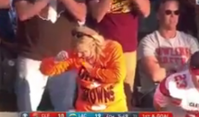CBS Accidentally Cuts To Browns Fan Taking Money Out Of Her Bra (VIDEO)