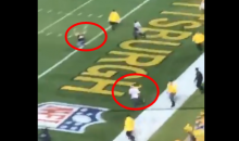 Multiple Steelers Fans Run Out On The Field During Game Against Patriots (VIDEO)