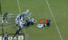 Eagles DE Chris Long Gets The Strip Sack, Then Runs Away To Celebrate Instead of Grabbing Loose Ball (VIDEO)