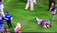 ESPN Sound Guy Flops After Devonta Freeman Barely Runs Into Him (VIDEO)