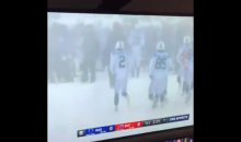 Pat McAfee Hilariously Calls The Blizzard Coming Through Buffalo As They Face The Colts (VIDEO)