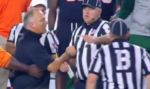Miami HC Mark Richt Grabs Refs Arm & Squares Up With Him During Heated Confrontation (VIDEO)