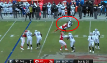 Derrick Johnson Put A Hit on Marshawn Lynch That Knocked Him Back 3 Yards (VIDEO)