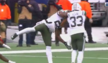 Jets Player Blows Up His Own Teammate To Make Sure He Doesn't Catch Ball (VIDEO)