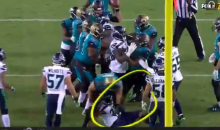 Seahawks' Michael Bennett Dove At Jaguars' Linder's Knees; Didn't Get Ejected (VIDEO)
