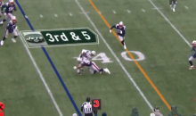 James Harrison Delivers First Big Hit As A Member of The New England Patriots (VIDEO)