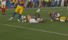 49ers' Marquise Goodwin Carted Off Field After Devastating Hit From Blake Countess (VIDEO)