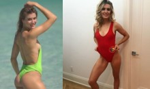 Genie Bouchard Busts Out Sexy Bikini For Lucky Guy Who Won 'Super Bowl Bet' On Beach Date (PICS)