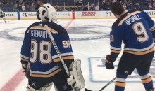 Blues Dress Vending Machine Repair Man as Emergency Backup Goalie (VIDEO)