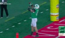 Marshall Player Shotguns Football Like A Beer In TD Celebration (VIDEO)