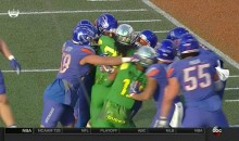 Boise State Player Punches An Oregon Player During The Las Vegas Bowl (VIDEO)